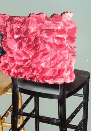 Custom Shabby Ruffled Chair Cushion by AandFBaby on Etsy