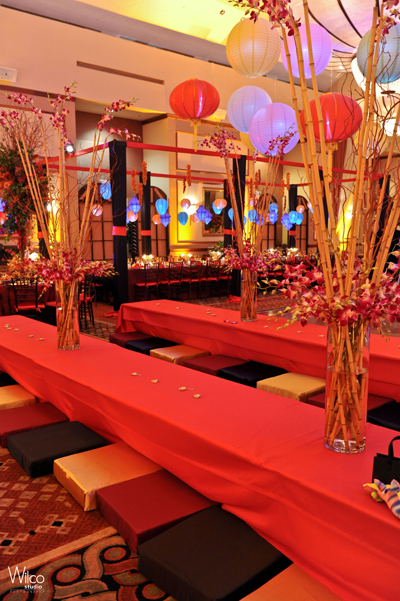 Themes linzi events for Asian party decoration