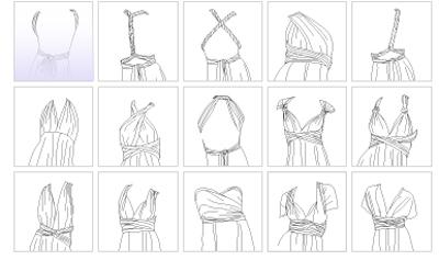 Le noeud papillon multi functional dress un unico for Cartamodello papillon