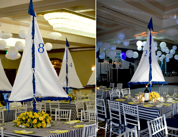 Nautical theme for a bar mitzvah celebration linzi events for Decoration yacht
