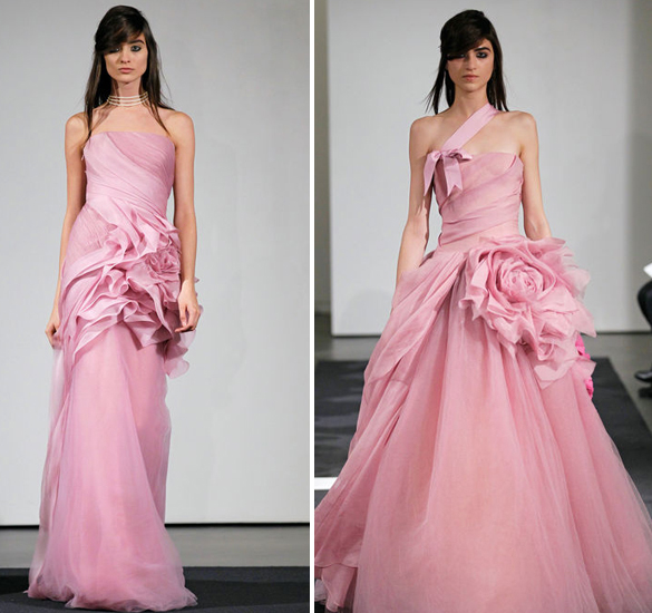 The Bold Vera Wang Pink Fall Wedding Gown Collection 2014 - Linzi ...