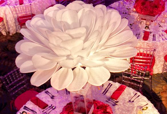 Floral paper flower centerpiece