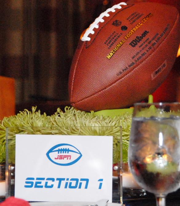 Football Stadium Lights End Table: Football Bar Mitzvah