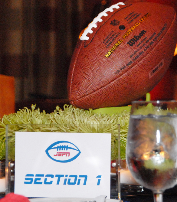 linzi events centerpeice football mitzvah