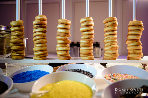 how to create a theme event with a food selection